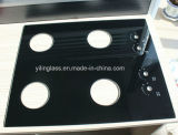 Vidrio Tempered impreso color negro Cooktop