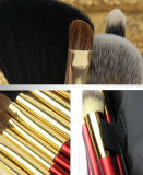 Neuer Luxus 9 PCS der reizvolle rote Verfassungs-Pinsel der Dame-Style Cosmetic Brush Portable