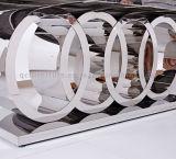 식당 현대 새로운 디자인 장방형 모양 대리석 상단 금속 테이블