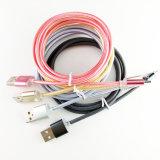 PVC universal del cable de datos del teléfono celular y cable trenzado de nylon