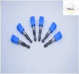 Cutoutil HRC55 Tialn покрывая длиннее R2.0*8*4D*75L*2f/4f для части &#160 CNC стали подвергая механической обработке; Торцевые фрезы носа шарика