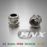 Tipo glándula del resorte de Hnx de cable de cobre amarillo de la cuerda de rosca de la paginación del EMC
