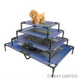 주문을 받아서 만들어진 애완 동물 공급에 의하여 접히는 금속 강한 개 옥외 가정 침대