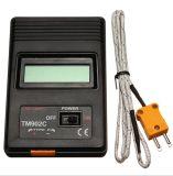 Detector de temperatura digital tipo K preto K Termômetro Medidor de termodetectores industrial + Sonda de termopar (TM-902C)