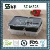 Контейнер коробки обеда Bento 3 отсеков течебезопасный