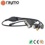 2個のナットが付いているRaymo ECGの固定ソケットおよびプリント回路/8つのPin円PCBのコネクターのためのまっすぐな接触
