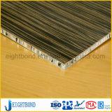Panneau en aluminium de nid d'abeilles des graines en bois pour le revêtement de façade