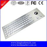 Клавиатура металла Backlight IP65 СИД промышленная с Trackball