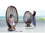 Cadeira ao ar livre confortável do Sintético-Rattan da mobília usando-se para o jardim & o balcão