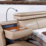 Base amarillenta de color de ante del cuero del color para el uso del dormitorio (FB3073)