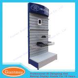 Étage en métal restant le stand annexe d'étagère de téléphone mobile d'étalage de Slatwall