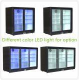 Refrigerador triple de la cerveza de las puertas, refrigerador de la barra, refrigerador posterior de la parte posterior del fabricante de China