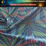 Tessuto di stampa dello Spandex del tessuto di seta naturale del poliestere, tessuto di stirata stampato