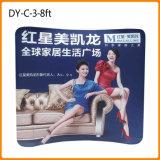 Étalage en aluminium personnalisé de salon de forme Curvy de 8FT (DY-C-3)