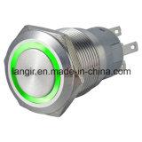 19mm van de LEIDENE van het Metaal Schakelaar de Kortstondige Drukknop van het Roestvrij staal (L19A)
