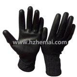 18gは抵抗力がある手袋DMF自由なPUのコーティング作業手袋を切った