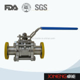 Válvula de esfera pneumática sanitária da pureza elevada 3piece de aço inoxidável (JN-BLV2002)