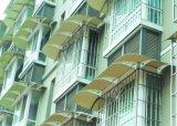 Afbaarden Ploycarbonate van de Bescherming van de regen het Duidelijke voor Dakraam