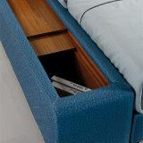 Кровать софы неподдельной кожи типа Кореи самомоднейшая для живущий мебели /Fb8047A комнаты
