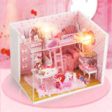Beartiful princesa de bricolaje de madera casa de muñecas