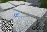 Естественная белая кристаллический серая каменная плитка G603