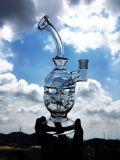 Conduite d'eau en verre de recycleur de trellis de 10 pouces