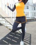 여자 숙녀 Yoga Wear를 위한 빨리 건조한 운영하는 의류 한 벌