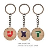 Le meilleur trousseau de clés de vente Hx-8544 en métal de souvenir de produits