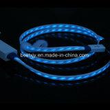 Visiable flüssiges Licht LED Mikro-USB-Datenübertragung-aufladenkabel