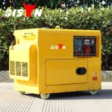 Luchtgekoelde Lang van de bizon (China) BS6500dse 5kw 5kVA 5000W - in werking gestelde Diesel van de Plicht van de Verkoop van de Tijd Hete Stille Draagbare Zware Generator 380V