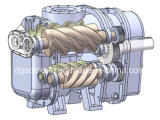 Zweistufiges Komprimierung-Öl täuschte Schrauben-industriellen Luftverdichter (KD75-10II)