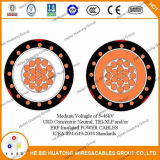 O UL certificou 5 aos cabos distribuidores de corrente concêntricos do milivolt do ponto morto de 35kv Urd
