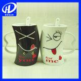 Tazza a forma di delle coppie del cuore, tazza di ceramica, tazza di caffè