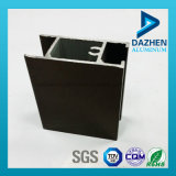 Perfil de alumínio anodizado da extrusão da porta do indicador com tamanhos personalizados