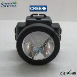 5W recargables impermeabilizan la lámpara principal del LED para los pescadores