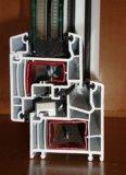 Het dubbel Verglaasde Pvccaement Venster van het Glas van de Schuine stand en van de Draai van de Gordijnstof van het Venster UPVC