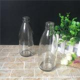 frasco de leite de vidro de 250ml 9oz com tampão de coroa
