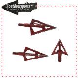 3 pontas fixas Seta Dica Cabeça larga Archery Componentes para caça