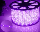 LEDロープライトまたは屋外Light/LEDの滑走路端燈またはネオンライトまたはクリスマスの照明または休日のライトまたはホテルライトか棒軽い円形2ワイヤー多彩な25LEDs 1.6W/M LEDストリップ
