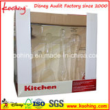 台所用品のコップのための波形のカスタムプリントペーパー昇進の包装ボックス