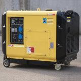 L'aria di prezzi di fabbrica del bisonte (Cina) 6kw 6000W 6kVA ha raffreddato il tipo silenzioso generatore di inizio di fabbrica di prezzi di uso portatile certo chiave della casa del diesel