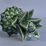 Опарник свечки большого ананаса зеленого цвета керамический с крышками