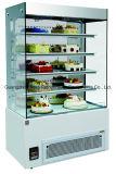 Refrigerador branco do indicador do bolo de mármore de preço de fábrica com Ce