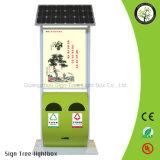 가벼운 상자를 광고하는 알루미늄 프레임 태양 전지판 옥외 게시판 LED