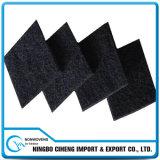 feltro ativado não tecido viscoso preto grosso da agulha do carbono de 10mm