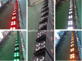 Luz plana ULTRAVIOLETA teledirigida de la IGUALDAD de la potencia de batería de WiFi 4X15W RGBWA del disco del partido LED
