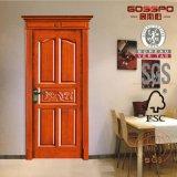 Diseños de madera de la puerta de oscilación del hogar de madera de la puerta del diseño de Latesr (GSP2-013)