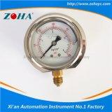 フランジが付いている放射状の耐衝撃性のオイルの満たされた圧力計