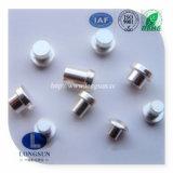 Le contact bimétallique d'alliage électrique de ruban de constructeur rivette le point reconnu pour le commutateur de mur