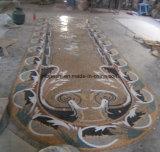 ロビーのフロアーリングのためのウォータージェットの大理石のモザイク模様の蜜蜂の巣の円形浮彫り